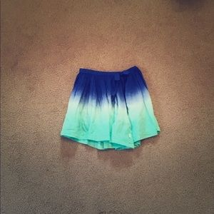 DKNY Blue, White and Turquoise ombre skirt.